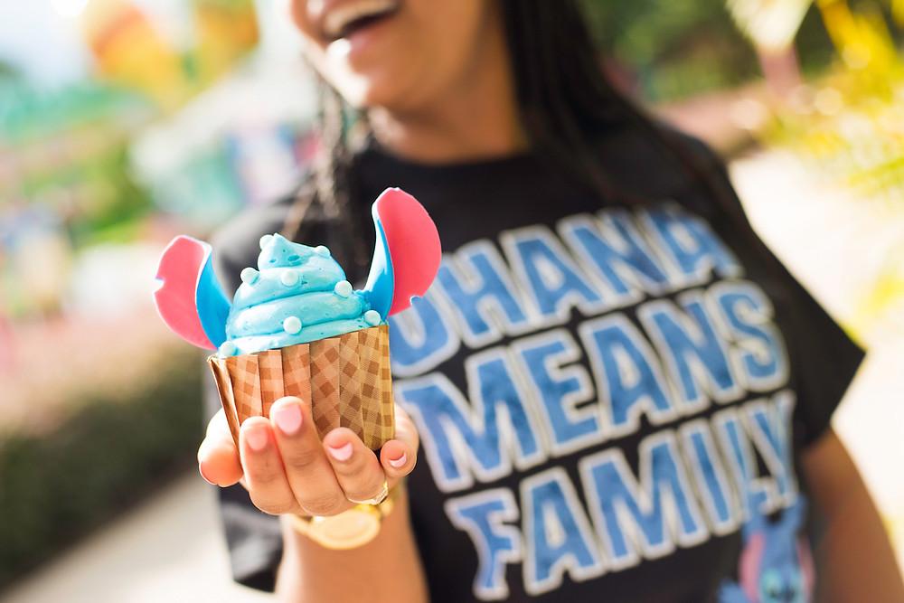 Disney Parks July Sweet Treats, Stitch Cupcake
