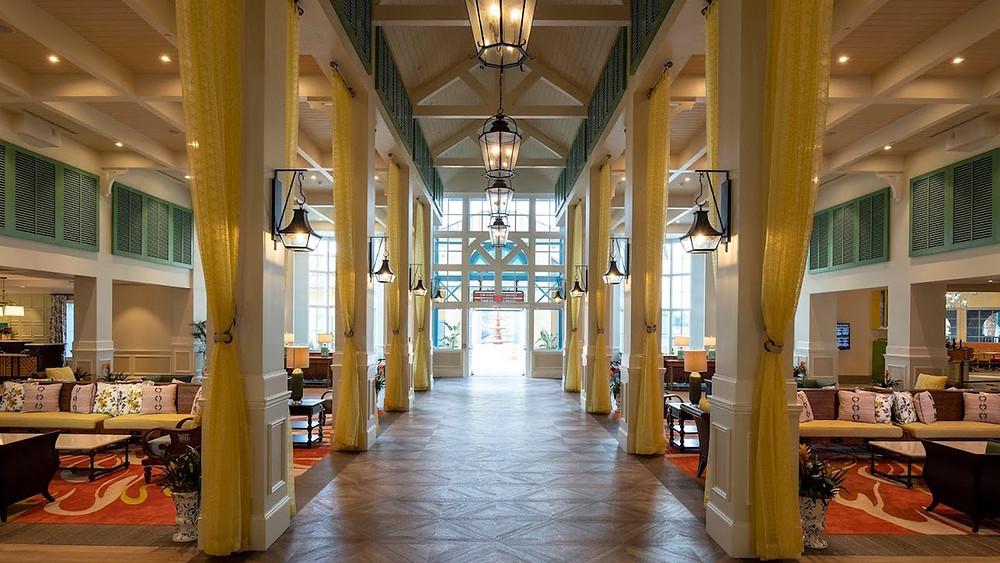 Take a Look at the New Lobby & Restaurants at Disney's Caribbean Beach Resort
