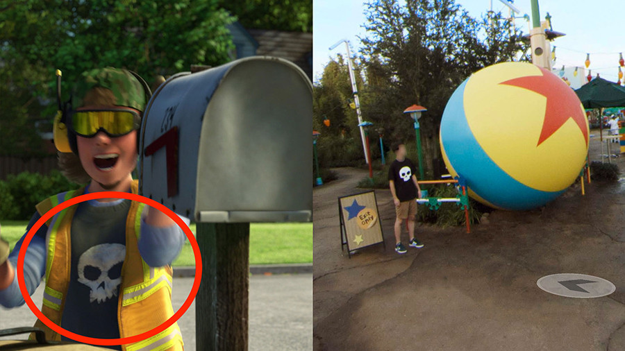 Can You Find All of the Pixar Easter Eggs Hidden in Google Street View Imagery of Toy Story Land?