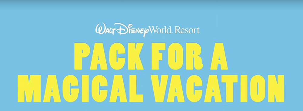 Packing Tips for A Walt Disney World Vacation