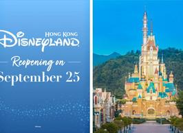 Hong Kong Disneyland Reopening on September 25