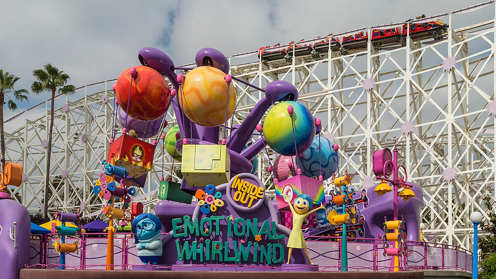 Inside Out Emotional Whirlwind Now Open at Pixar Pier in Disney California Adventure Park
