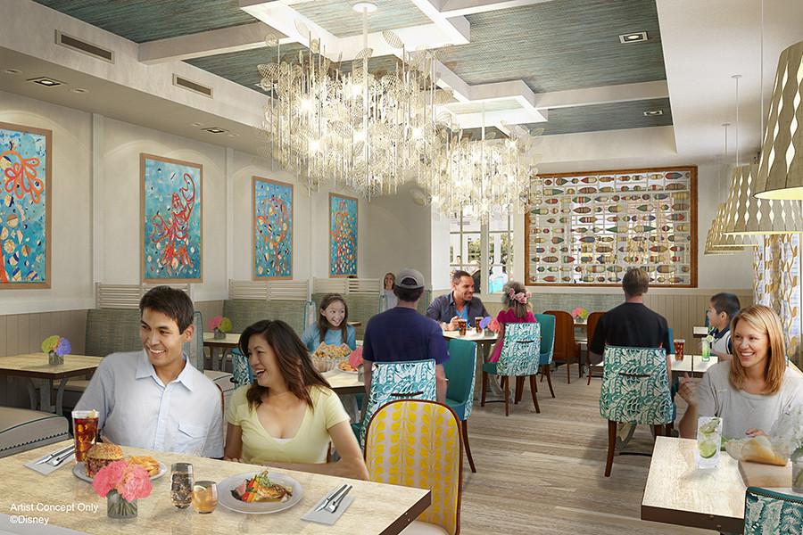 Menu Revealed for Sebastian's Bistro at Disney's Caribbean Beach Resort