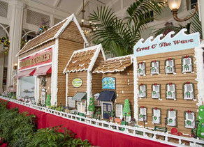 Take a Look at Disney's Boardwalk Resort's Gingerbread Display