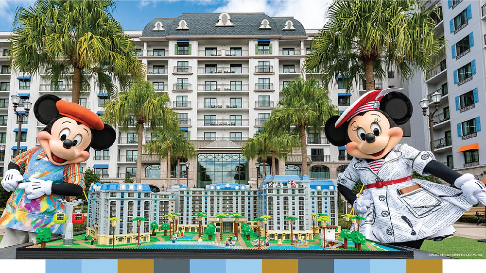 Disney's Riviera Resort Celebrates Their One Year Anniversary with a LEGO Replica Model!