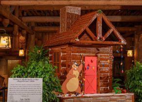 New Gingerbread Display at Disney's Wilderness Lodge