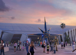 """Watch Construction Progress of the """"Guardians of the Galaxy""""-Themed Roller Coaster Coming to Epcot"""