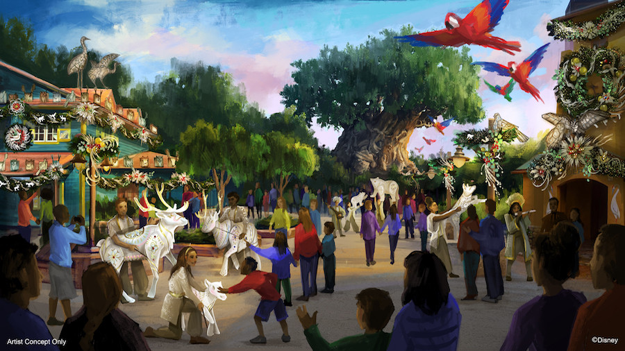 New Festive Entertainment and Decor Coming to Disney's Animal Kingdom This Holiday Season!
