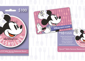 Buy a Passholder-Exclusive $100 Disney Gift Card and Receive $10 for Table-Service Dining at Epcot!
