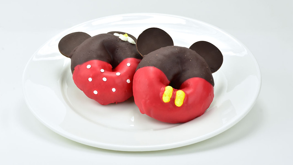 Mickey and Minnie-themed doughnuts
