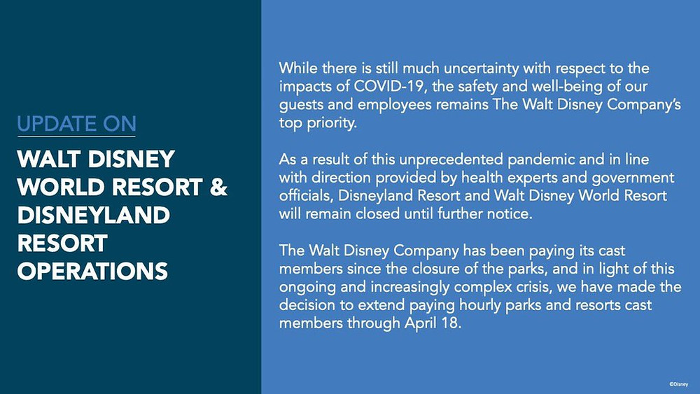 BREAKING: Walt Disney World Extends Closure Due to COVID-19