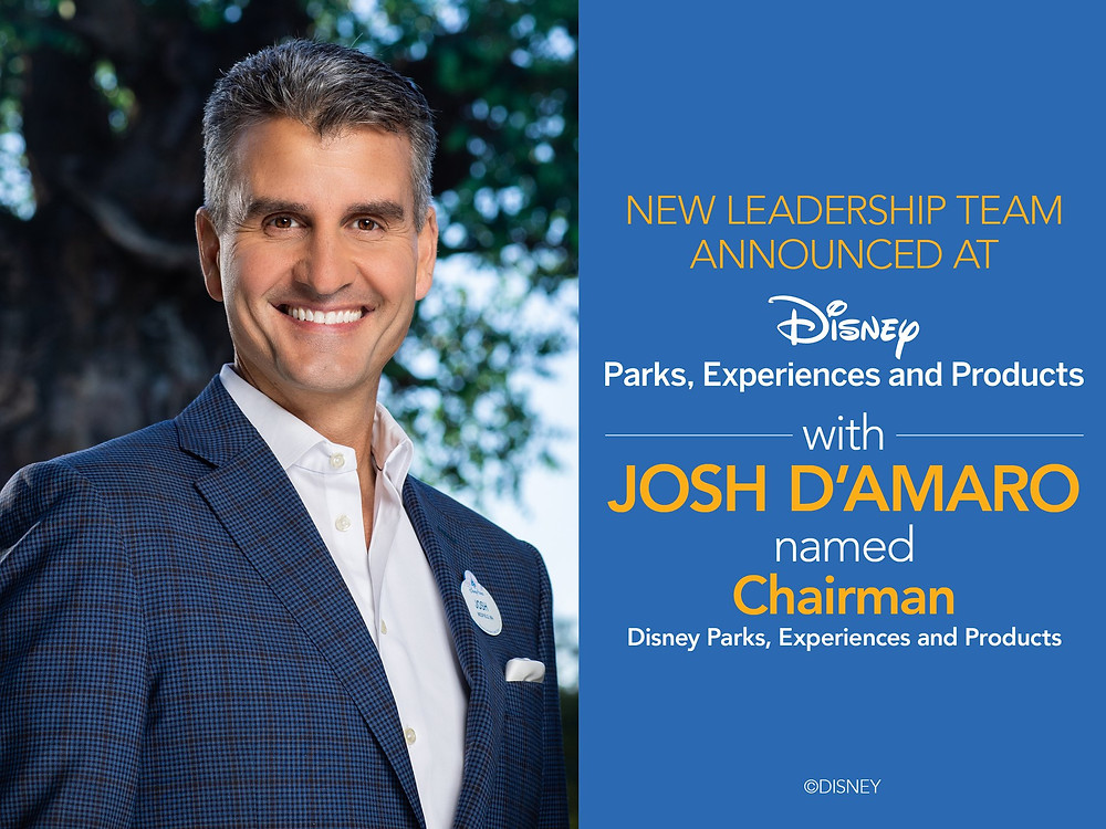 New Leadership Announced for Disney Parks, Experiences and Products