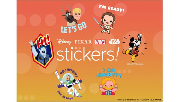 Digital Disney, Pixar, Star Wars, & Marvel Stickers Available for Free!