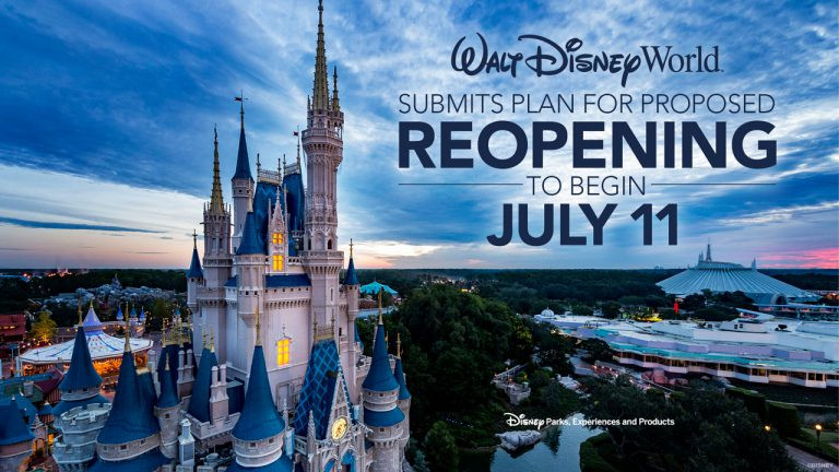 Walt Disney World Releases Statement About Reopening Theme Parks July 11