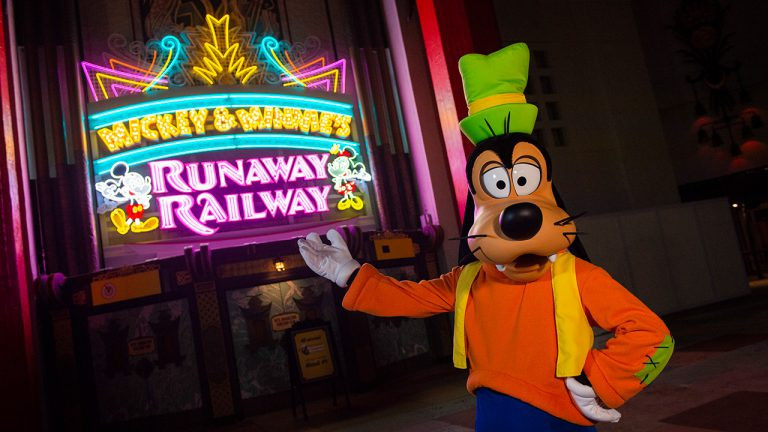 The New Marquee for Mickey & Minnie's Runaway Railway is Installed!