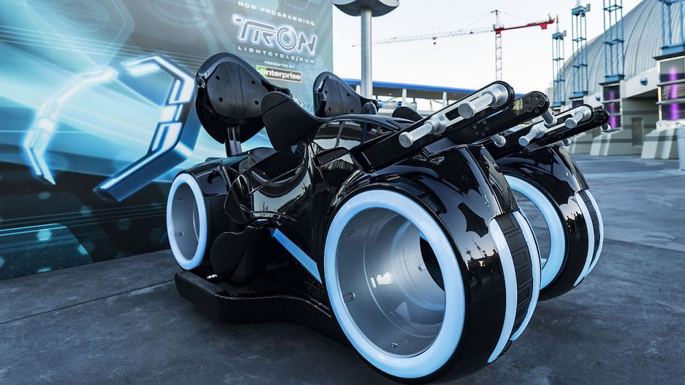 TRON Lightcycles On Display in Tomorrowland at Magic Kingdom Park