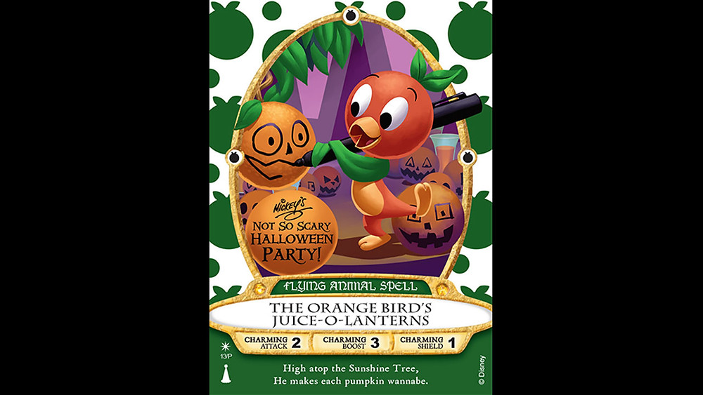 New Orange Bird Sorcerers of the Magic Kingdom Card for Mickey's Not-So-Scary Halloween Party