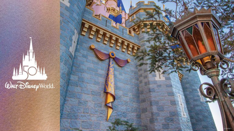Cinderella Castle Receives First Piece of 50th Anniversary Décor