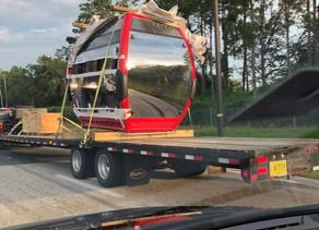 Skyliner Cabins for Disney's Skyliner Transportation System Arriving on Disney Property
