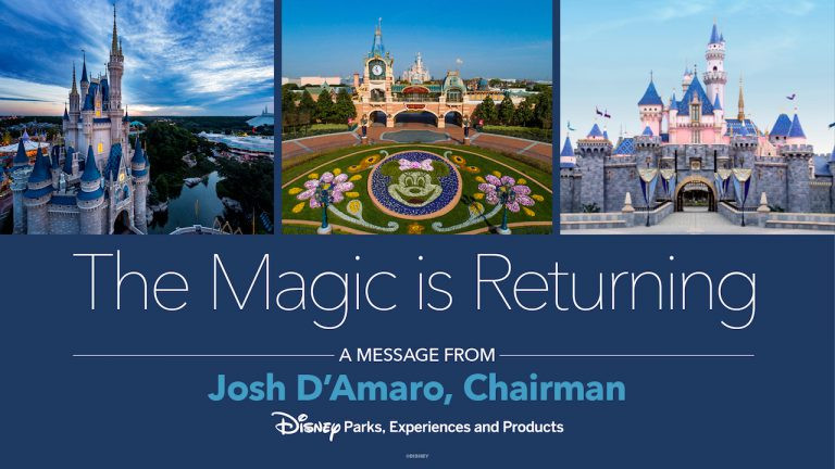 Disney Parks Chairman, Josh D'Amaro, Shares Hope as The Magic is Returning