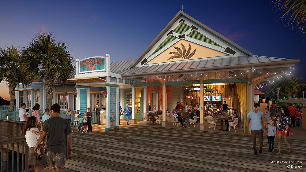 Sebastian's Bistro Coming to Disney's Caribbean Beach Resort