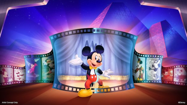 Mickey Mouse Character Greeting Moving to Imagination! Pavilion at Epcot
