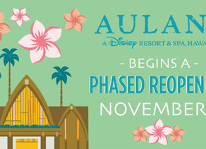 Aulani Resort To Begin a Phased Reopening November 1