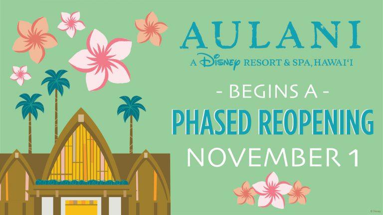 Aulani Resort To Begin a Phased Reopening November 1
