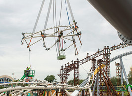 New Construction Milestone for TRON Lightcycle Run Attraction!