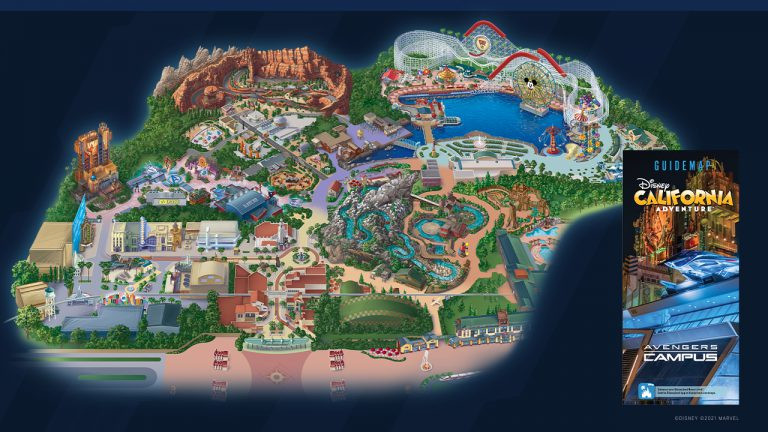 First Look at the Avengers Campus Guide Map at Disney California Adventure Park!