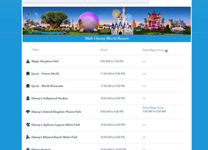 Reduced Theme Park Operating Hours When Disney World Reopens