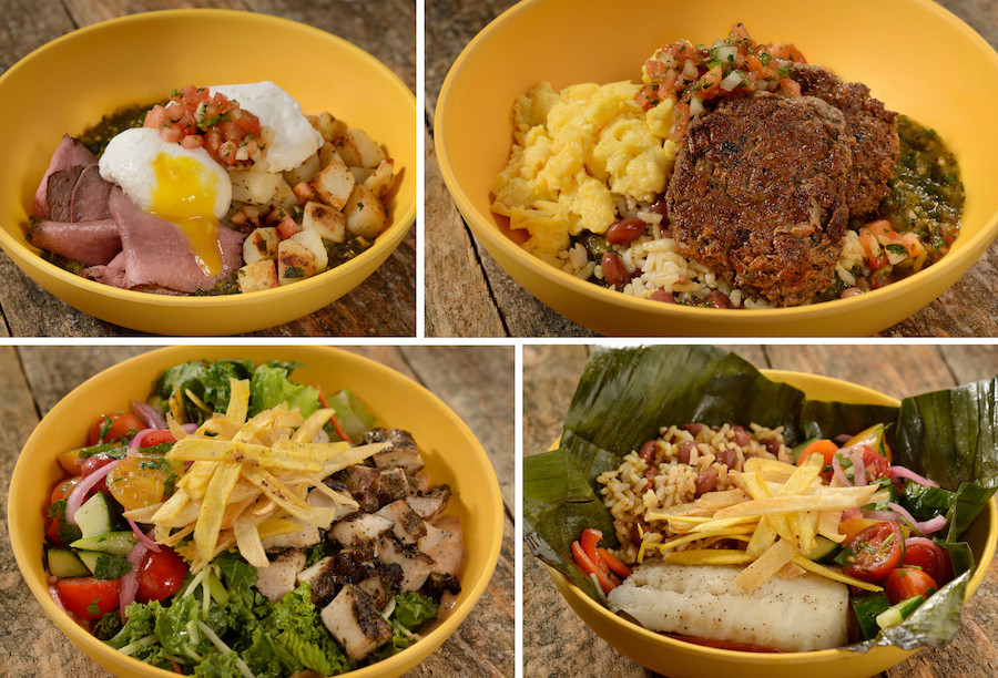 New Menu at the Reimagined Centertown Market at Disney's Caribbean Beach Resort Island Bowls