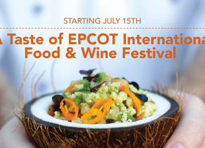 A Modified Epcot International Food & Wine Festival to Take Place Starting on July 15