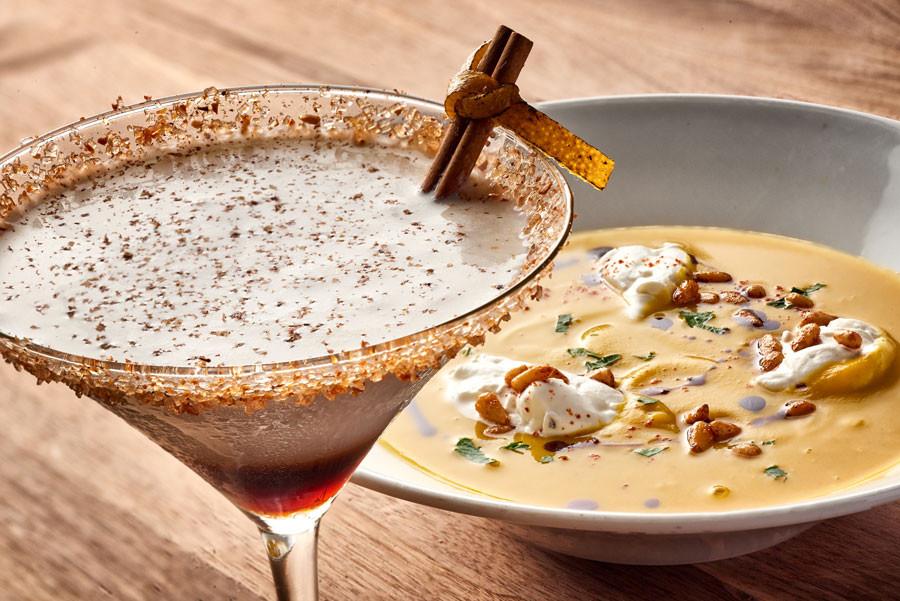 Enzo WonderFall Soup and Pumpkin Martini