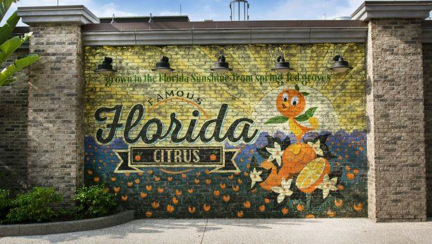 New Wall At Disney Springs Celebrates Orange Bird!
