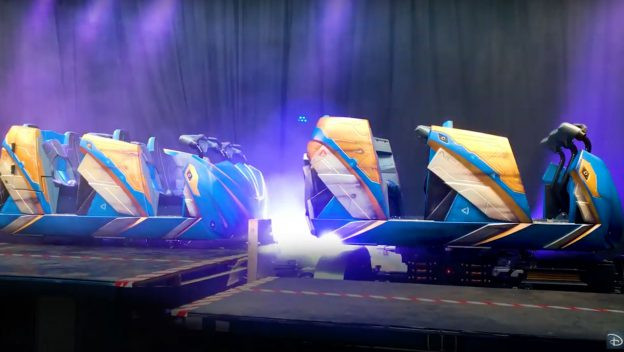 First Look: Guardians of the Galaxy: Cosmic Rewind Ride Vehicles!