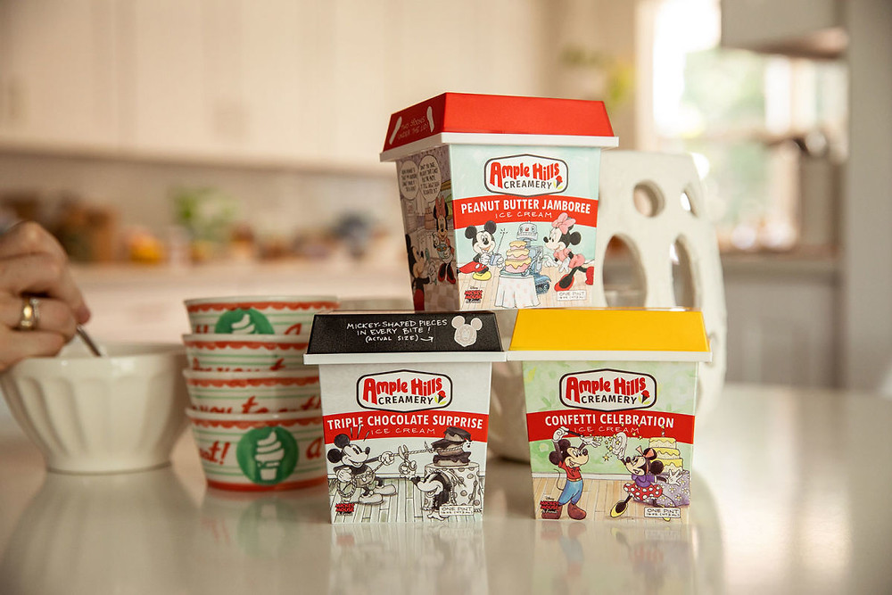 Ample Hills Creamery to Release Three New Flavors of Ice Cream to Celebrate Mickey's 90th!