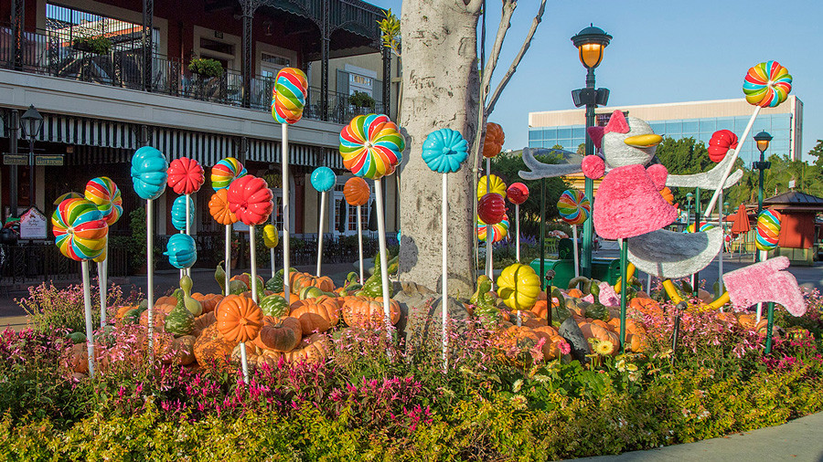 Candy-Inspired Pumpkin Patches Found Throughout Downtown Disney District at Disneyland Resort