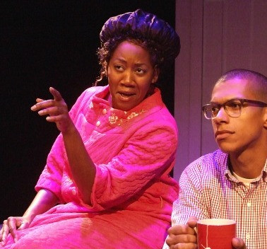 Brie Eley and Nicholas Anthony Reid in Obama-ology by Aurin Squire, Skylight Theatre, c. Ed Krieger