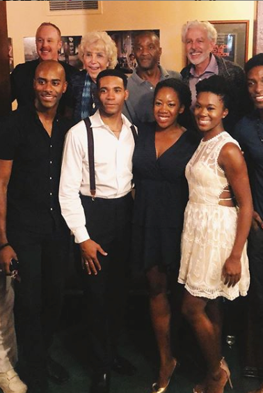 With the cast of The Double V, opening night