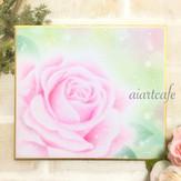Pink Rose(パステル画)