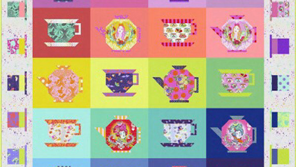 Mad Hatters Tea Party Quilt by Tula Pink