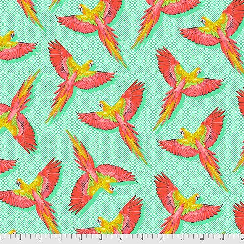 Tula Pink Daydreamer Mango Macaw ya later