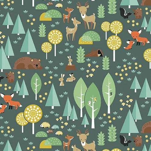 Flannel Woodland - Main Green