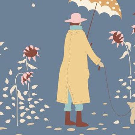 Tilda Windy Days Windy Walk Blue