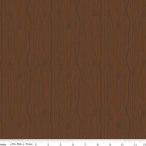 Flannel Woodland - Woodgrain Forest Brown
