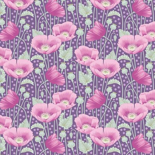 Tilda Gardenlife Poppies Lilac