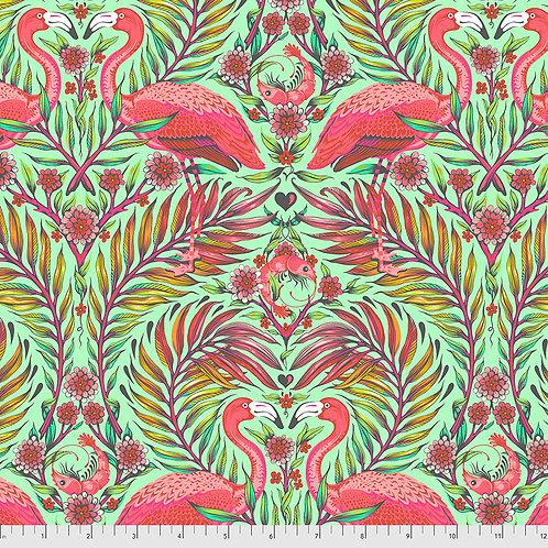 Tula Pink Daydreamer Mango Flamingos
