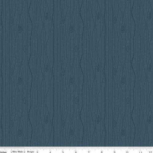 Flannel Woodland - Woodgrain Blue
