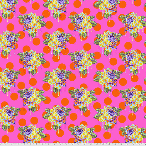 Tula Pink Curiouser & Curiouser Painted Roses - Daydream
